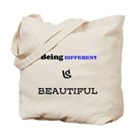 BEING DIFFERENT IS BEAUTIFUL Tote Bag