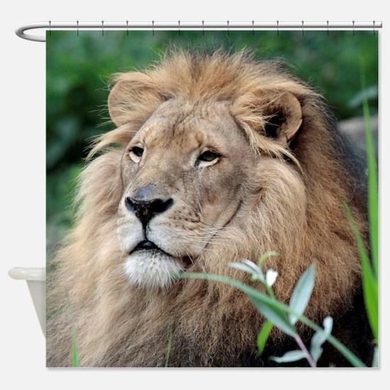Lion010 Shower Curtain