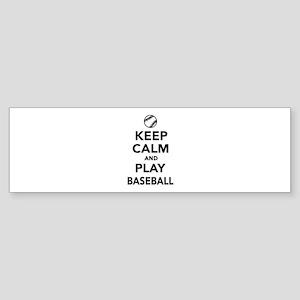 Keep calm and play Baseball Sticker (Bumper)
