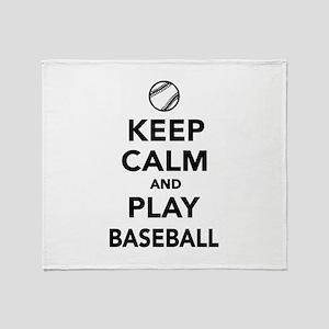 Keep calm and play Baseball Throw Blanket