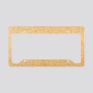 Corkboard License Plate Holder