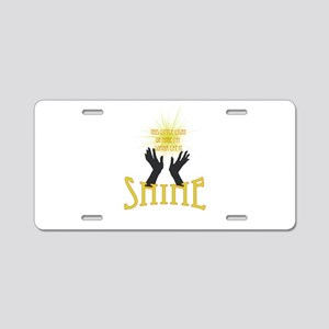 Shine Aluminum License Plate