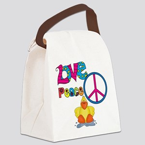 Love Peace Ducks Canvas Lunch Bag