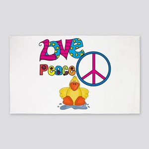 Love Peace Ducks 3'x5' Area Rug