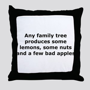 Lemons, Nuts and Apples Throw Pillow