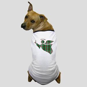 Christmas Plaid Angel Dog T-Shirt