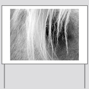 Palomino in Black and White Yard Sign