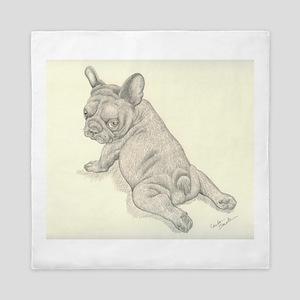 French Bulldog Baby Queen Duvet