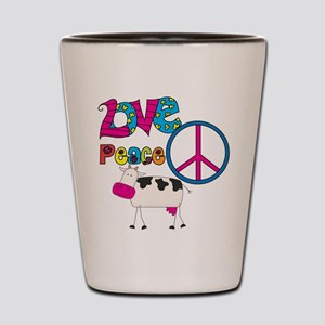 Love Peace Cows Shot Glass