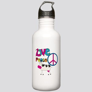 Love Peace Cows Stainless Water Bottle 1.0L
