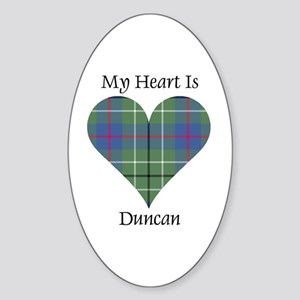 Heart - Duncan Sticker (Oval)