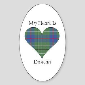Heart - Duncan Sticker (Oval)