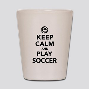 Keep calm and play Soccer Shot Glass