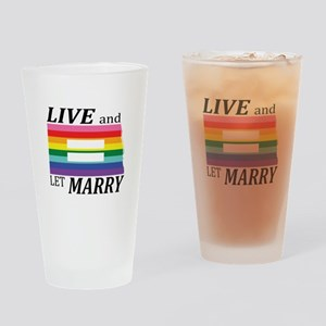 North Dakota live marry blk Drinking Glass
