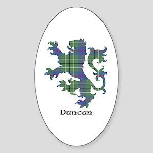 Lion - Duncan Sticker (Oval)