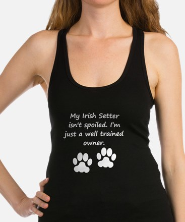 Well Trained Irish Setter Owner Racerback Tank Top