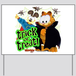 Garfield Show Trick or Treat Yard Sign