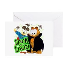 Garfield Show Trick Or Treat Greeting Cards (pk Of
