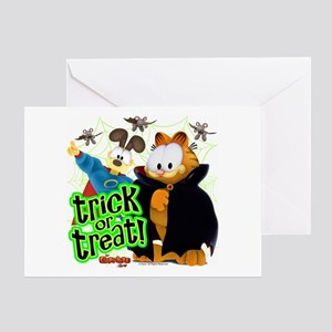 Odie greeting cards cafepress garfield show trick or treat card greeting cards m4hsunfo