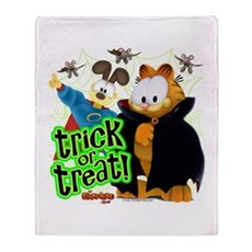 Garfield Show Trick or Treat Throw Blanket