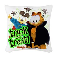 Garfield Show Trick or Treat Woven Throw Pillow