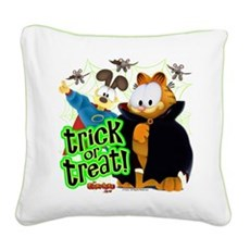 Garfield Show Trick or Treat Square Canvas Pillow