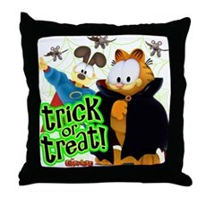 Garfield Show Trick or Treat Throw Pillow