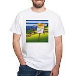 No Trespassing White T-Shirt