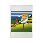 No Trespassing Rectangle Magnet (10 pack)