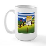 No Trespassing Large Mug