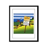 No Trespassing Framed Panel Print