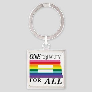 North Dakota one equality blk Keychains