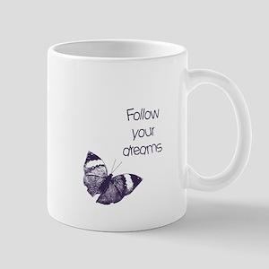 Follow Your Dreams Butterfly Mugs