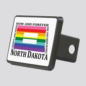 North Dakota motto equality blk Hitch Cover