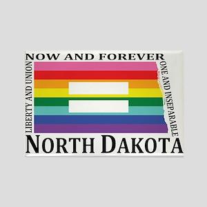North Dakota motto equality blk Magnets