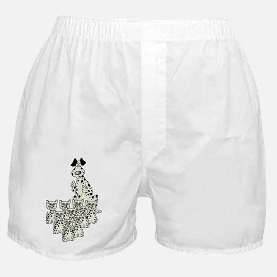 Whimsical Dalmation Themed Boxer Shorts