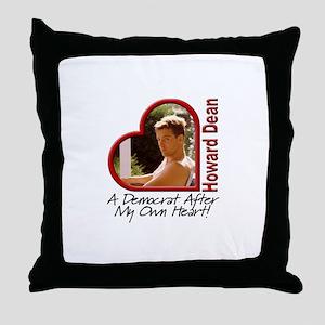 Young Howard Dean Throw Pillow