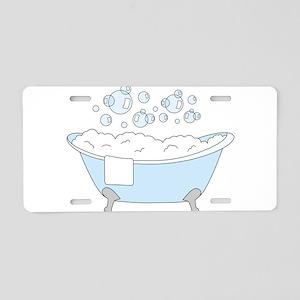 Bathtub Aluminum License Plate