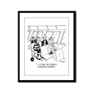 Commuted Commuter Sentence Framed Panel Print