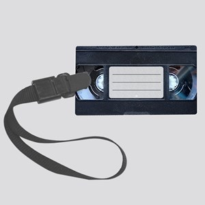 Retro VHS Tape Large Luggage Tag