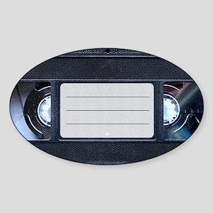 Retro VHS Tape Sticker (Oval)
