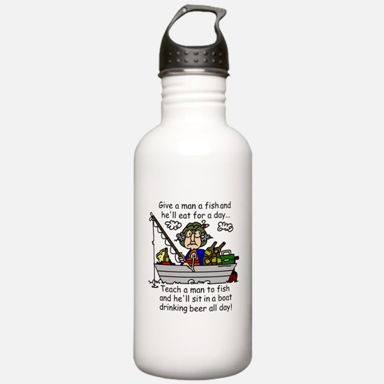 Teach a Man to Fish Water Bottle