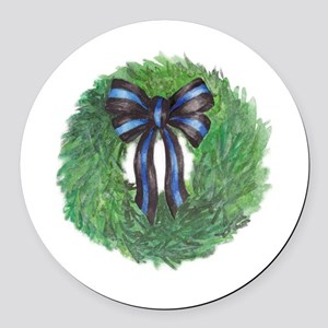 blwreath Round Car Magnet