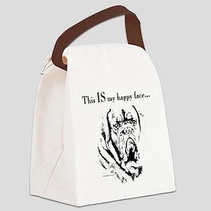 Dogue de Bordeaux Happy Face Canvas Lunch Bag