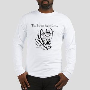 Dogue de Bordeaux Happy Face Long Sleeve T-Shirt