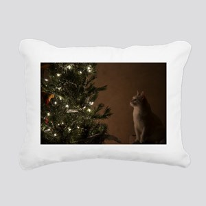 Christmas Cat Rectangular Canvas Pillow