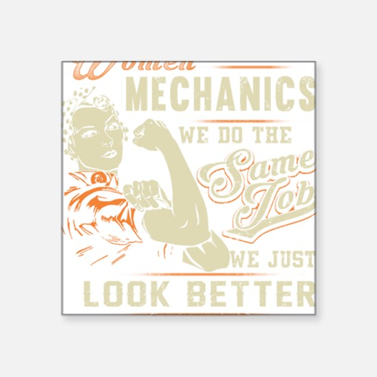 "Unique Mechanical engineers Square Sticker 3"" x 3"""