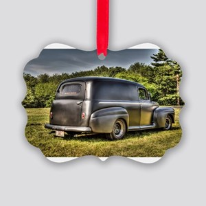 Hot rod delivery van Picture Ornament