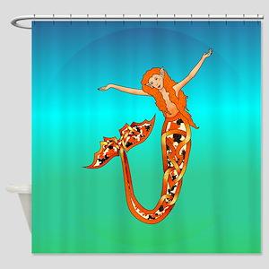 Koi Mermaid Shower Curtain