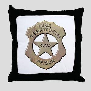 Yuma Territorial Prison Guard Throw Pillow